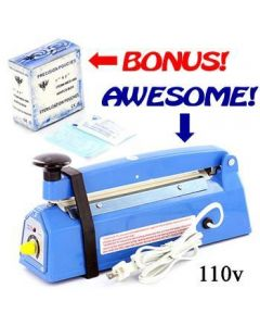 Desk Type Impulse Heat Sealer - Free 400 Sterilization Pouches - 110v
