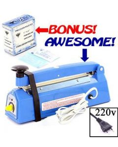 Desk Type Impulse Heat Sealer - Free 400 Sterilization Pouches - 220v