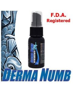 Derma Numb Tattoo Topical Anesthetic Spray - 1oz Bottle