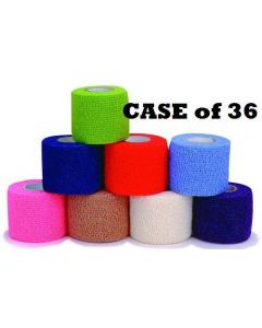 "Coban Cohesive Bandage - 2"" x 5 Yards - Case of 36 Rolls"