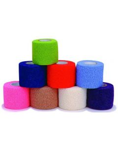 "Coban Cohesive Bandage - 2"" x 5 Yards - 1 Roll of Random Color"
