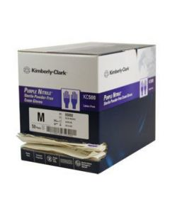 Kimberly-Clark Purple Nitrile Sterile Gloves – One Case of 100 Gloves