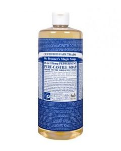 Dr. Bronner's Magic Soaps Peppermint Pure-Castile Soap – 32oz. Bottle