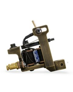 HM Mini Dietzel Liner Coil Tattoo Machine — Brass Finished (Thumbnail)