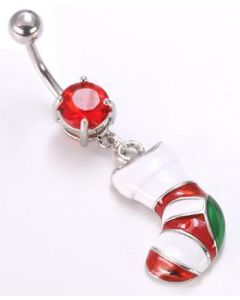 "14g 7/16"" Stocking Dangle Charm Belly Button Ring"