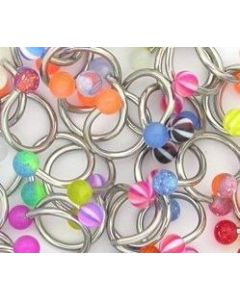 "14g 7/16"" Mixed Acrylic Twisters - Price Per 10"