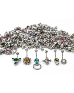 14g Galaxy Mix – Bag of 100 Jeweled Belly Button Rings