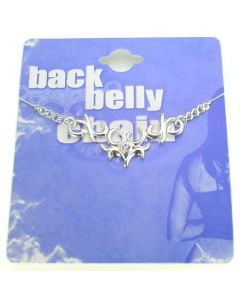 Mask Back Belly Chain Pierceless Body Jewelry