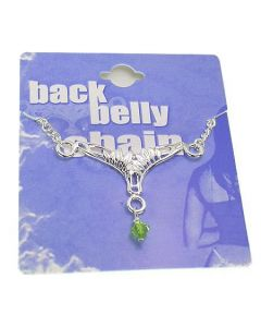 Leaves Back Belly Chain Pierceless Body Jewelry