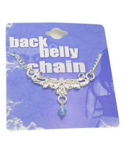 Flower Pedals Back Belly Chain Pierceless Body Jewelry