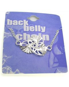 Triple Shell Back Belly Chain Pierceless Body Jewelry