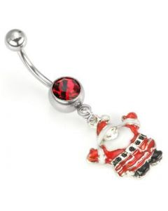 Christmas Santa Dangle Belly Button Ring