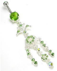 Pal Tree Jeweled Dangle Belly Button Ring