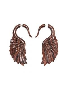 Sono Wood Falcon Wing Cheater Earring
