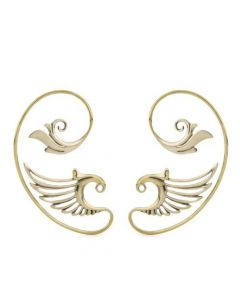 Polished Brass Seraph's Wing Ear Wrap – Thumbnail