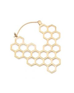 18g Polished Brass Save the Bees 53mm Earrings — Price Per 2