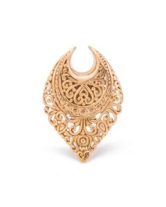 Teardrop Filigree Brass Saddle Hanger — Thumbnail