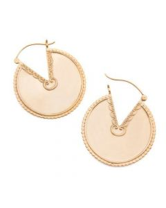 14g 22kt Gold Plated Desert Shield Earrings — Price Per 2