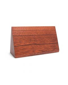 Sloped Wooden Block Display — Kayu Putih Red Finish