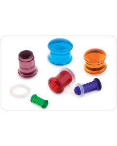 Matte Color Front Single Flare Plug — Custom Made — Price Per 1 (Main)