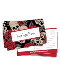 "Postcards — 3"" x 5"" — Choose Your Background — Red Skulls"