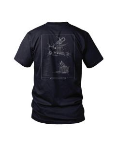 PainfulPleasures Tattoo Machine Midnight Navy Unisex Tee