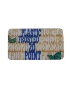 Transparent Plastic Specialty Business Cards – Frosted