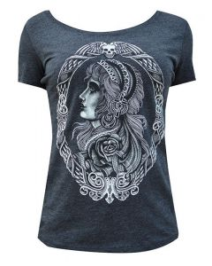 Low Brow Black Market Art Gypsy Rose Women's Heathered Tee