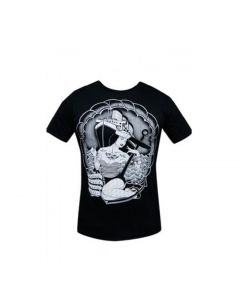 Low Brow Black Market Art Queen Mary Men's Black Tee