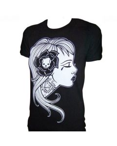 Low Brow Black Market Art Diamond Girl Men's Black Tee