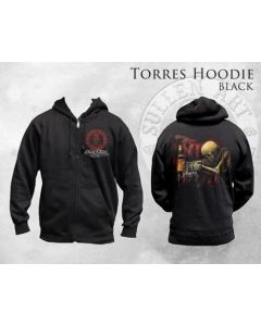 Sullen Zip Hoodie - Skeleton Drinking in a Bar by Carlos Torres