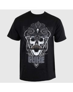Sullen Cure Movember Men's Black Tee Front
