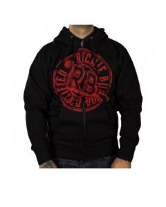 Richie Bulldog Certified Men's Black Zip Hoodie