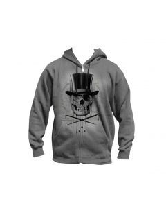 Diamonds and Stones Men's Heather Gray Zip Hoodie by Sullen
