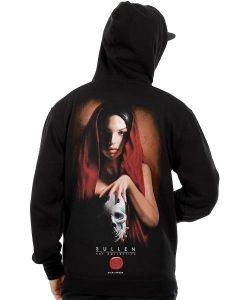 Sullen Gitana by Rich Pineda Men's Black Zip Hoodie Back