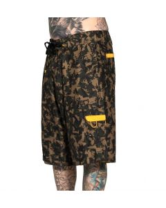 Men's Tat Machine Camo Board Shorts by Sullen Side View