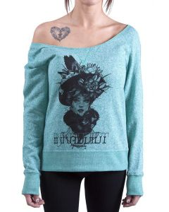 Ink Addict Women's Off the Shoulder Sweatshirt