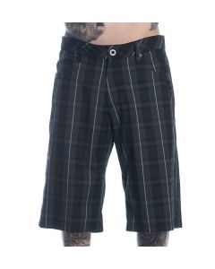 Sullen Men's Plaid Underdog Walk Shorts Front