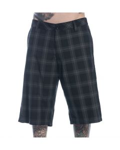 Sullen Men's Plaid Wedge Walk Shorts Front
