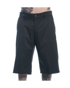 Sullen Men's Resistant Black Walk Shorts Front