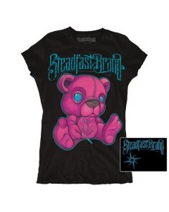 Steadfast Brand Women's Stitched Black T-Shirt