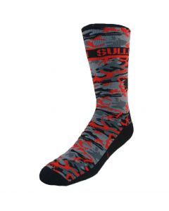 Hunted Red/Black Camo Socks by Sullen Front
