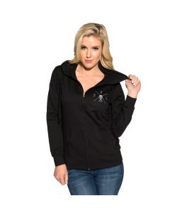 Sullen Angels Loved Women's Zip Hoodie Front