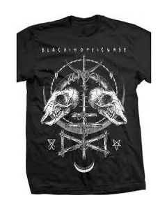 Ruins Black Tee for Men — Black Hope Curs