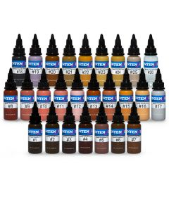 Randy Engelhard Tattoo by Number Set — Intenze Tattoo Ink — Set of 25 — 1oz Bottles