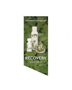 Recovery Sold Here Window Cling — Leaves Background — Price Per 1