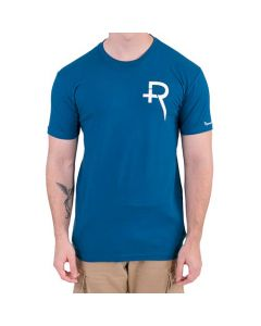 Recovery Unisex Blue Logo Short-Sleeved T-Shirt (Thumbnail)