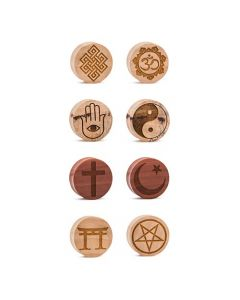 Limitless Custom Engraved Religious Symbol Wood Plug Chart (Thumbnail)