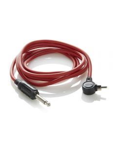 2M Angled RCA Cord by Sabre Tattoo Supplies — Signal Red