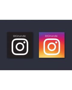 Black or Color Limitless Instagram Handle Sticker